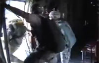 Soldier Thrown Out of Plane
