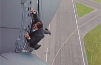 Tom Cruise Clings to Airbus on Takeoff