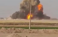 ISIS Car Bomb Gets Blown Apart