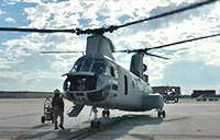 CH-46 Flies into History