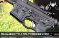 AR-15 Inscribed with Bible Verse