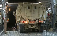 Loading MRAPs in a C-17