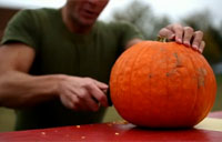 How to Carve a Pumpkin Like a Marine