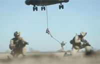 Marines Fast Rope from CH-53 Super Stallion