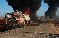 Destroyed ISIS Convoy