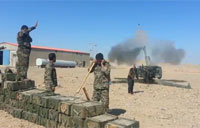 Iraqis Fire Howitzers on ISIS