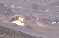 Houthi ATGM Strike on Saudi Tank