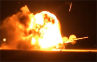 Russian Bomber Explodes After Failed Takeoff