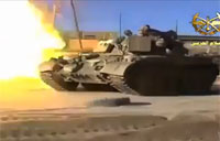 Syrian Tanks in Combat