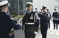 Coast Guard Silent Drill Team at WWII Museum
