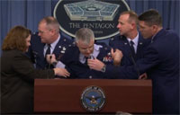 USAF General Faints at the Podium