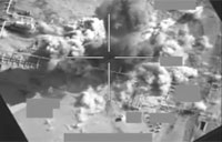 Air Strike Destroys Oil Separation Center