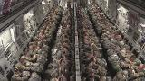 Paratroopers Static Line Jump From C-17