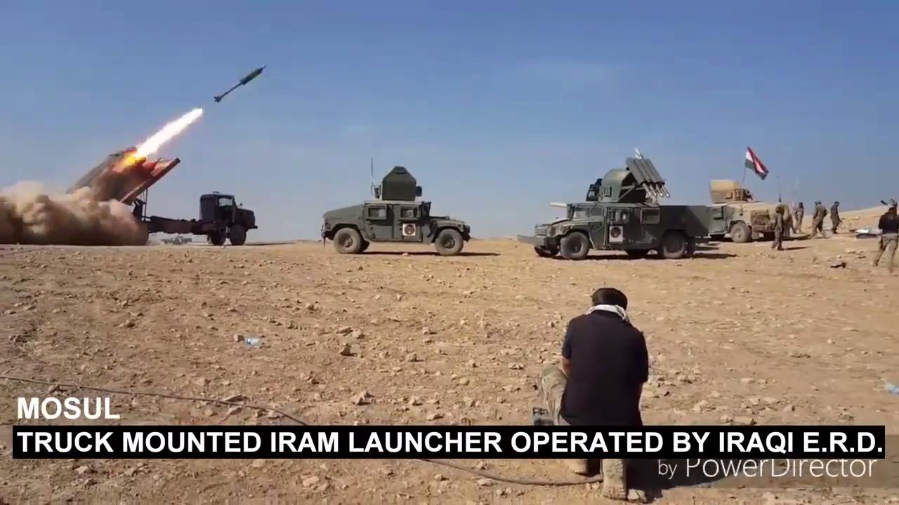 IRAM launcher mounted on HUMVEE in Action in Iraq ...