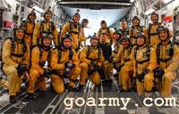 The Golden Knights Train in a C-17