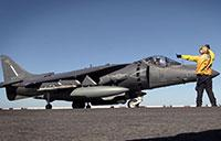 Armed, Ready: AV-8B Harrier II Takes Off