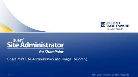 Site Administrator for SharePoint  - Whats New in Version 4.2