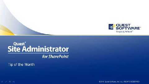 Site Administrator for SharePoint - Action Enabled Permissions Reports