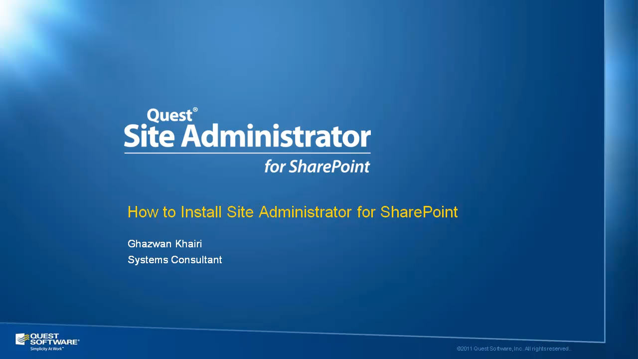 Site Administrator for SharePoint - Installation