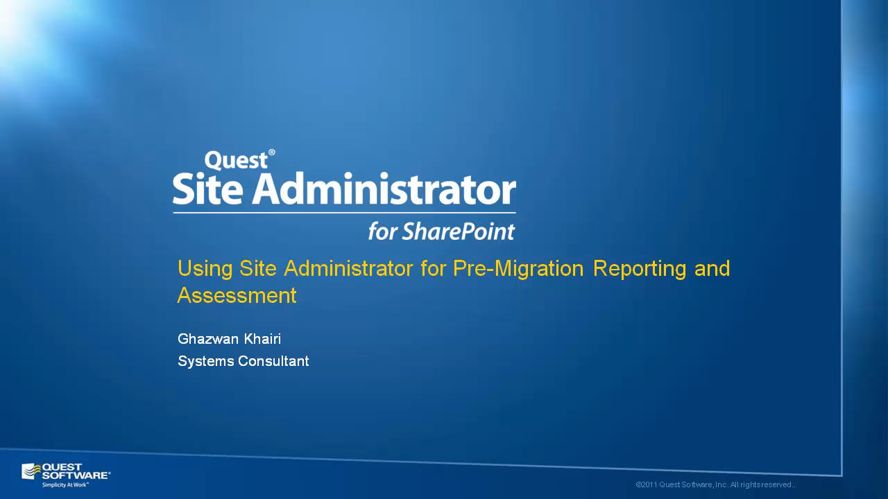 Site Administrator for SharePoint - Pre-Migration Reporting and Assessment