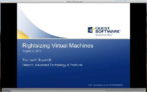 vFoglight - VMware vSphere 5 Pricing Now Based on vRAM, Save on Licensing Costs with Quest vFoglight