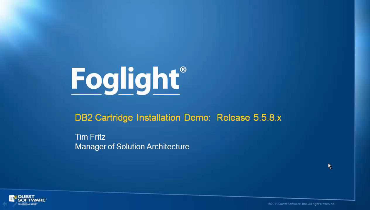 How to Install Foglight for DB2