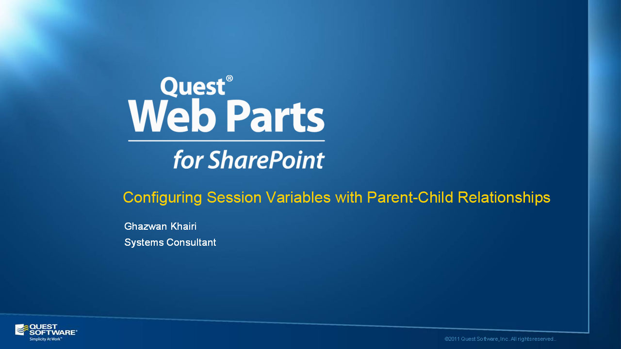 Configure Session Variables with Parent-Child Relationships using Quick Apps for SharePoint