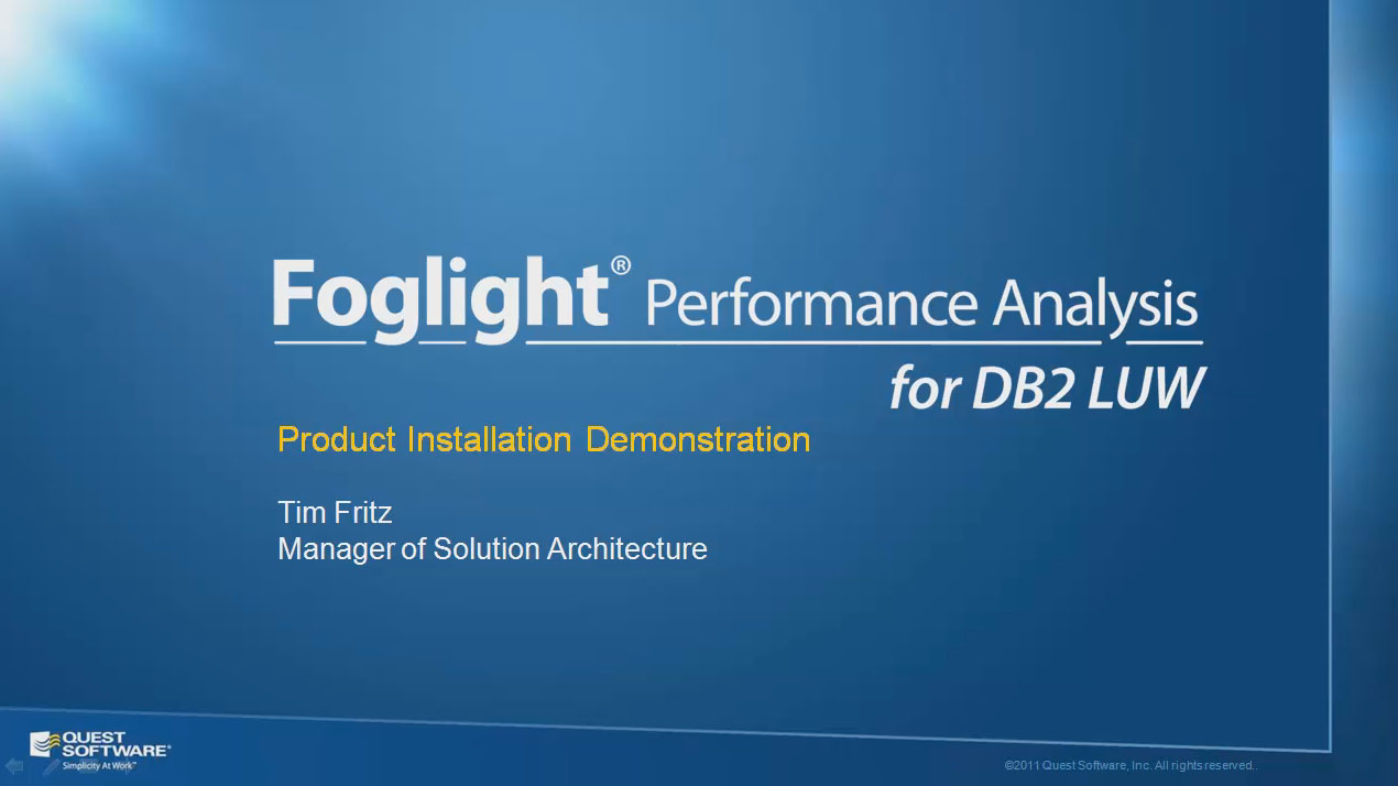 How to Install Foglight Performance Analysis for DB2 LUW