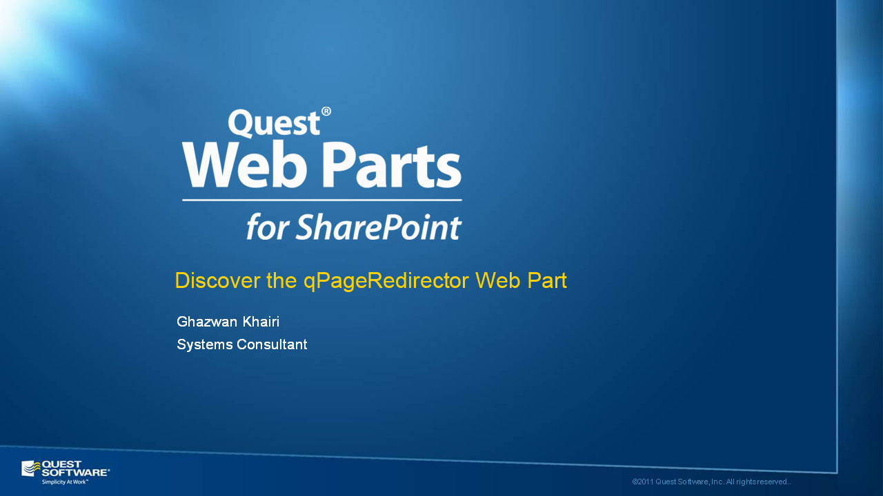 Discover the qPageRedirector Web Part of Quick Apps for SharePoint