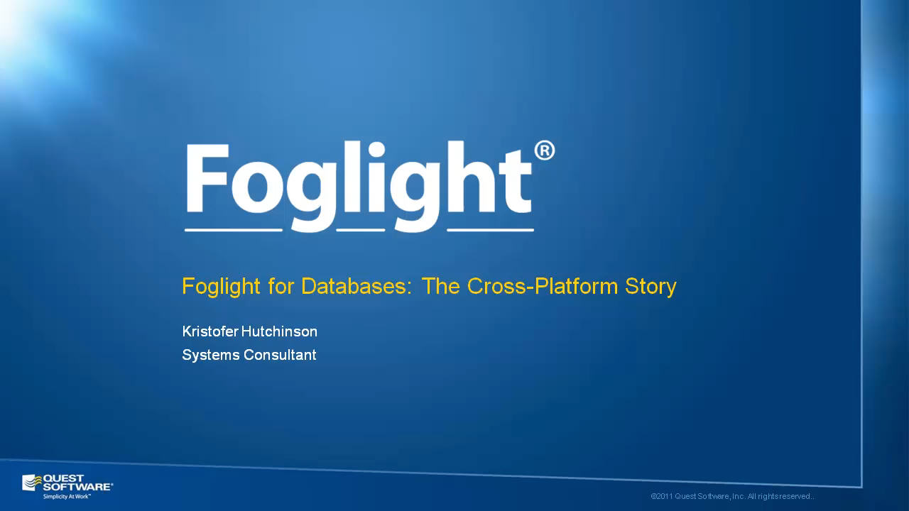 Cross-Platform Database Performance Monitoring with Foglight for Databases
