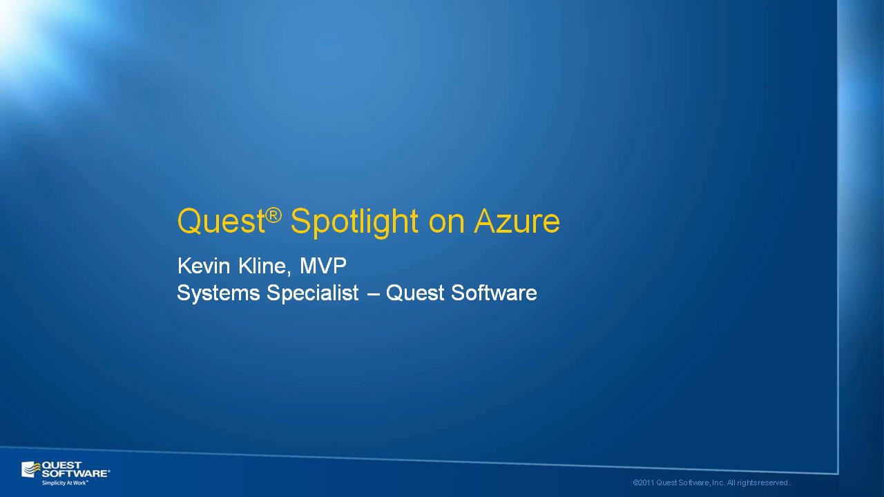 Introduction to Spotlight on Azure