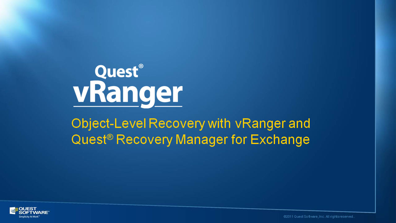 Object-Level Recovery with vRanger - auf Deutsch