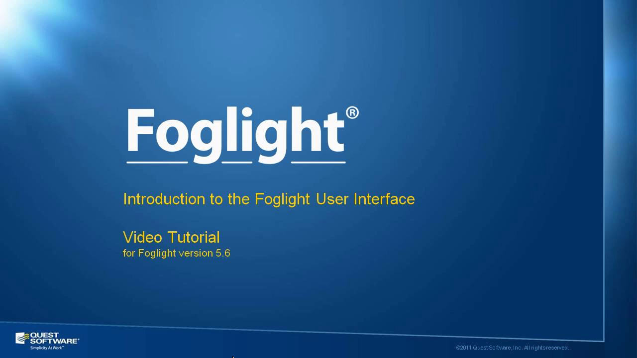 Introduction to the Foglight User Interface