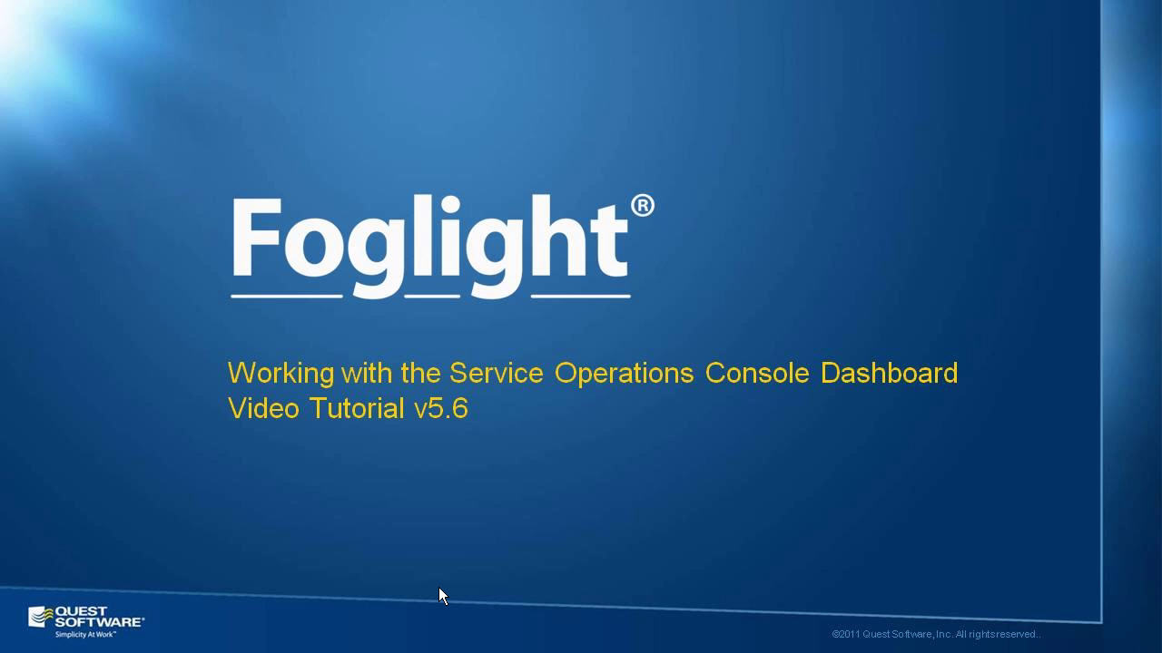 How to Use the Foglight Services Operations Console
