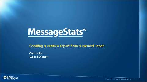 How to Customize MessageStats Templated Reports