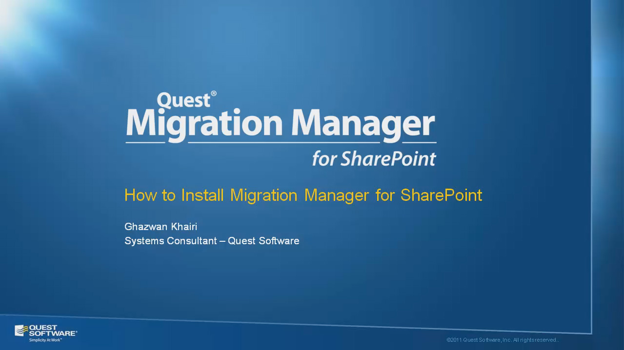How to Install Migration Manager for SharePoint