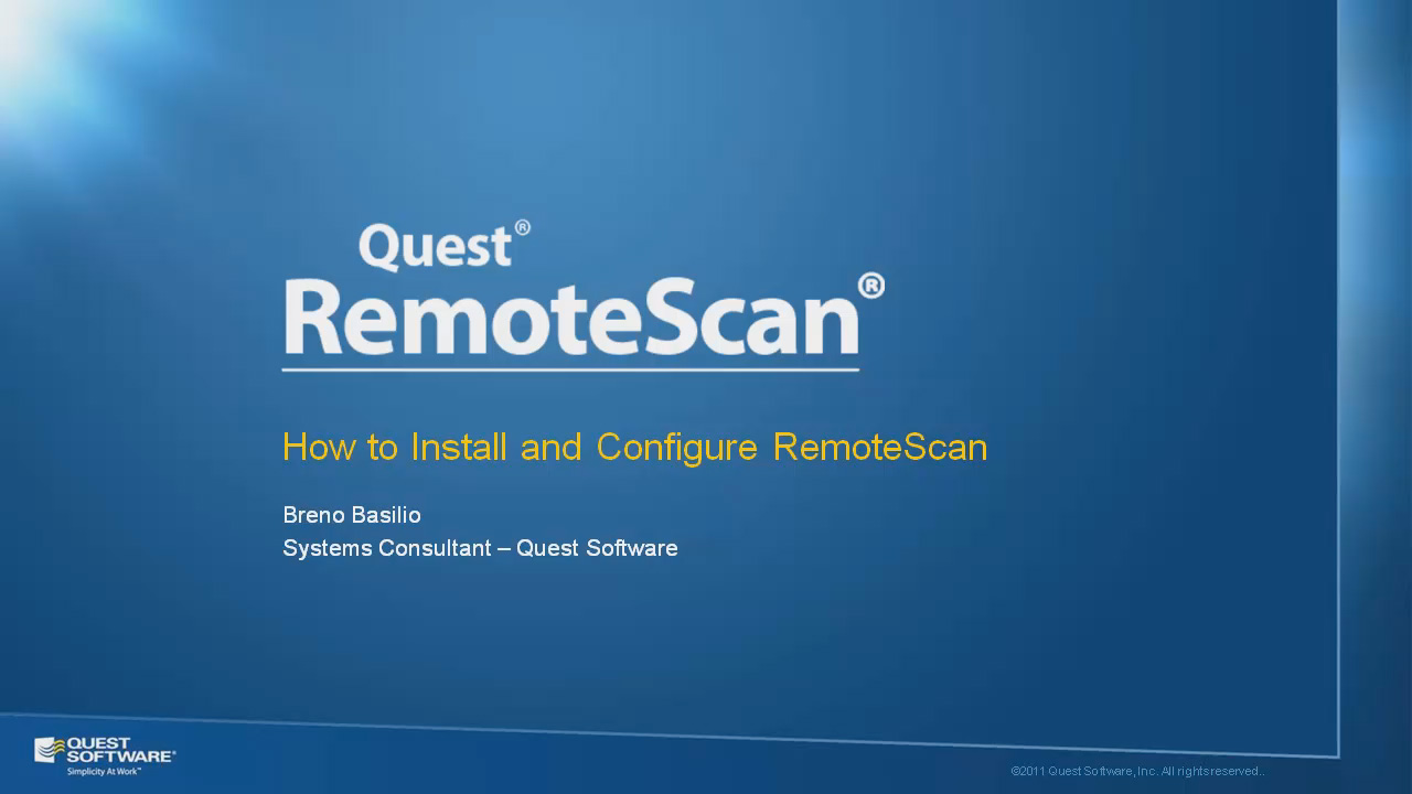 How to Install and Configure RemoteScan