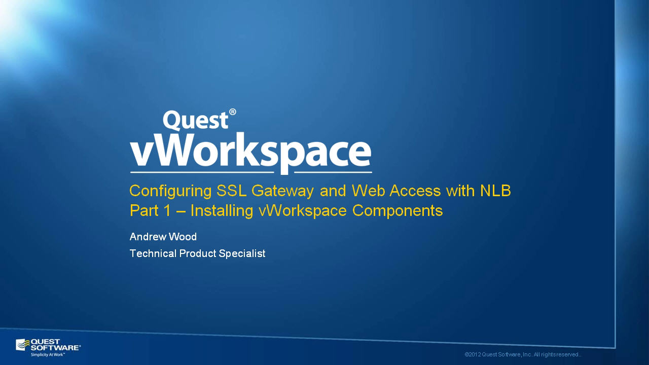 How to Configure vWorkspace Web Access - Part 1