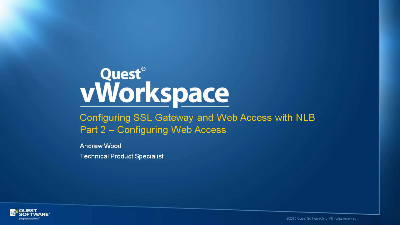 How to Configure vWorkspace Web Access - Part 2