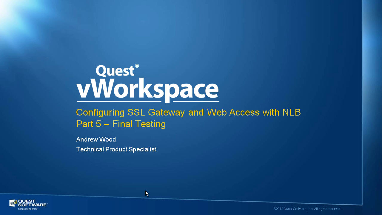 How to Configure vWorkspace Web Access - Part 5