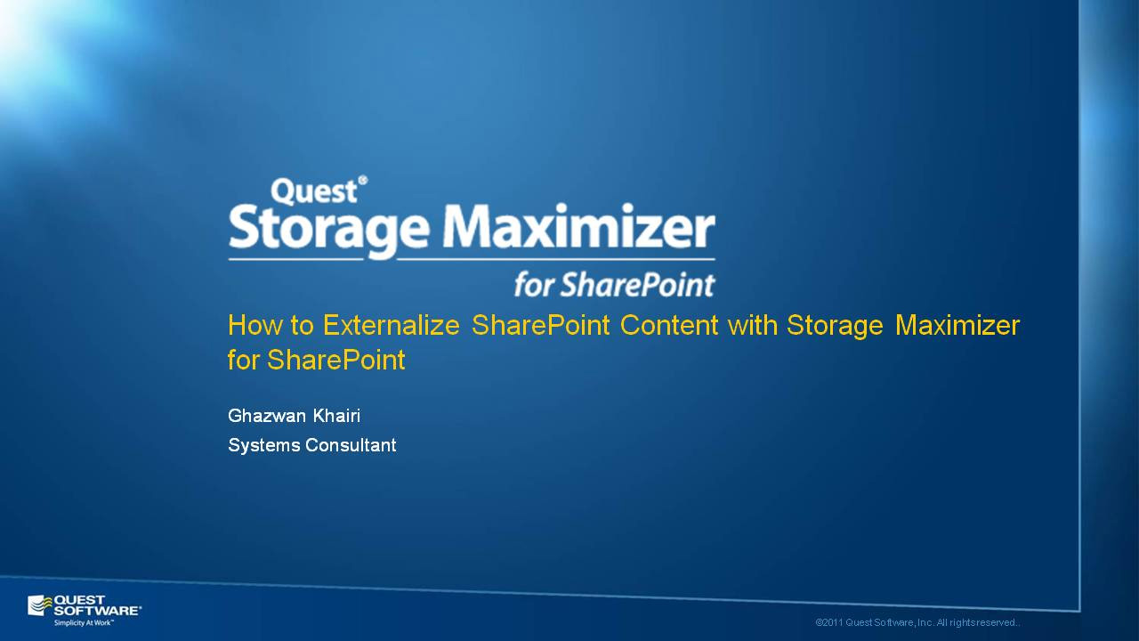 How to Externalize SharePoint Content with Storage Maximizer for SharePoint