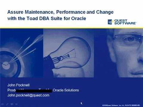 Toad DBA Suite for Oracle - Product Demo