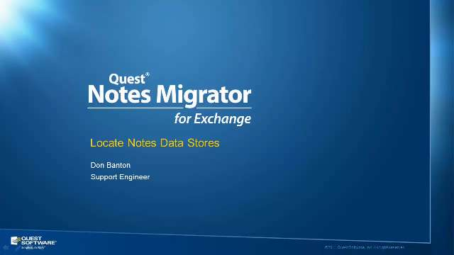 How to Locate Notes Datastores using Notes Migrator for Exchange