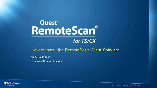 How to Install the RemoteScan Client Software