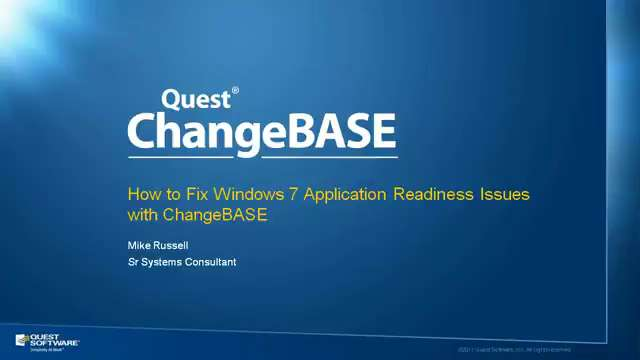 How to Fix Windows 7 Application Readiness Issues with ChangeBASE