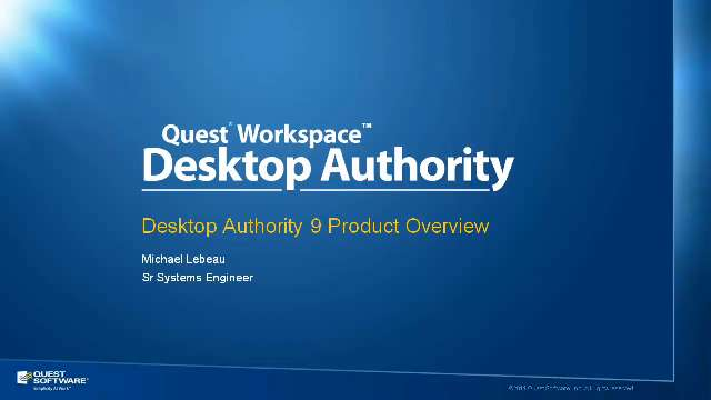 Desktop Authority 9 Product Overview