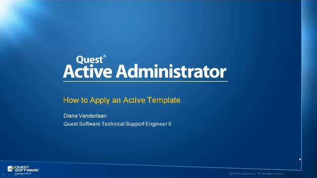 How to Apply Templates in Active Administrator