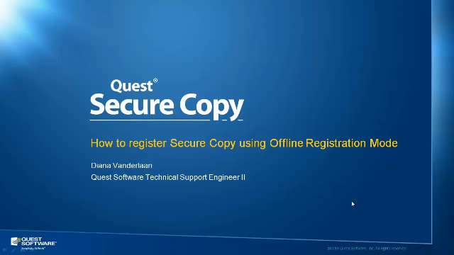 How to Register Secure Copy in Offline Mode