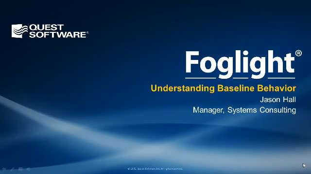 Introduction to Database Baselining with Foglight