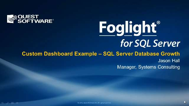 How to Track SQL Server Database Growth with Foglight